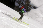 Backcountry skiing in Bohinj
